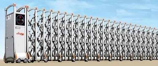 cổng xếp inox bán chạy THP82-1