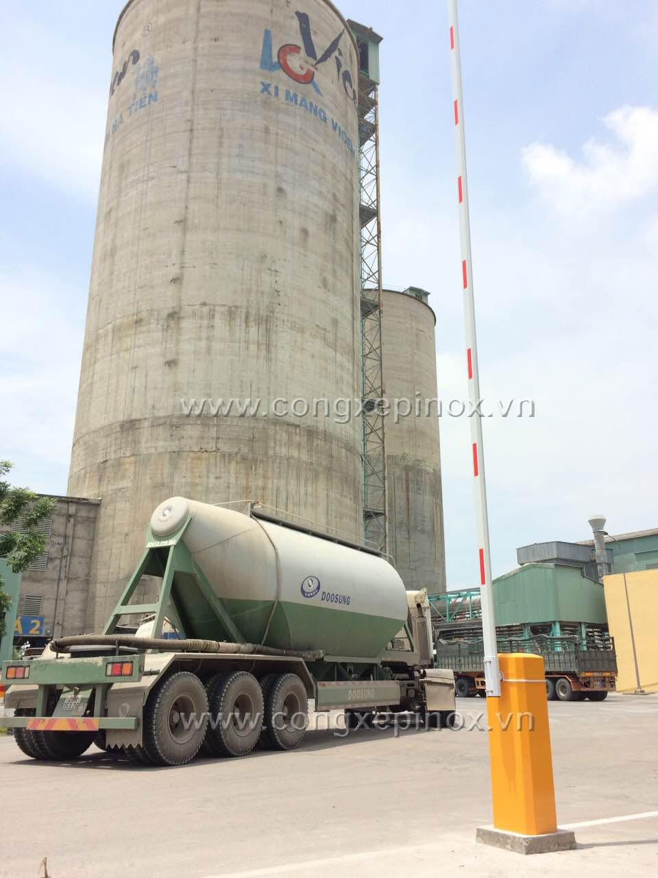 Công trình rào chắn tự động ở trạm nghiền xi măng Hà Tiên