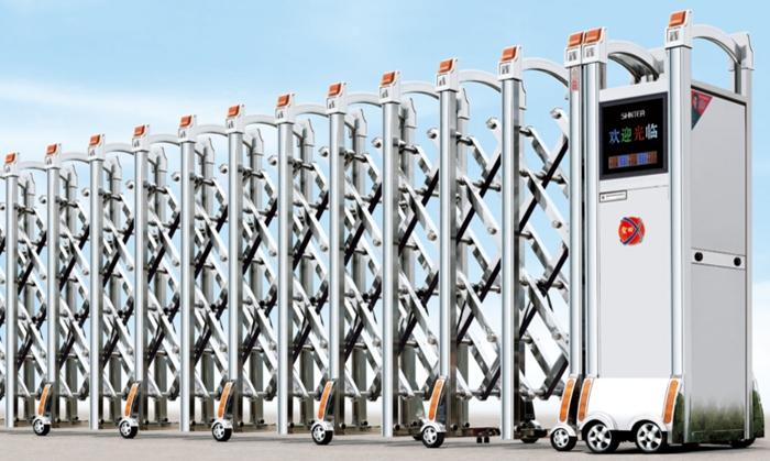 Cửa cổng xếp inox tự động xxx